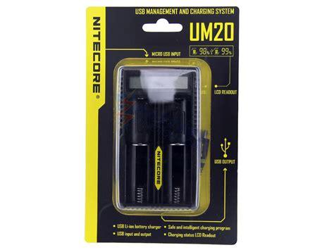 Charger Nitecore Um20 nitecore um20 li ion battery charger 2 bay