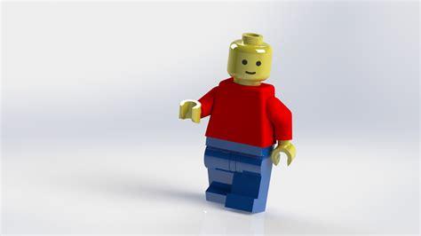 lego tutorial solidworks lego man solidworks step iges 3d cad model grabcad