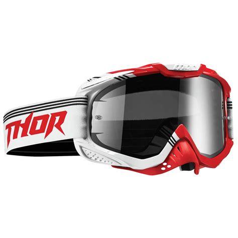 thor motocross goggles thor mx ally bend dirt bike white smoke tinted