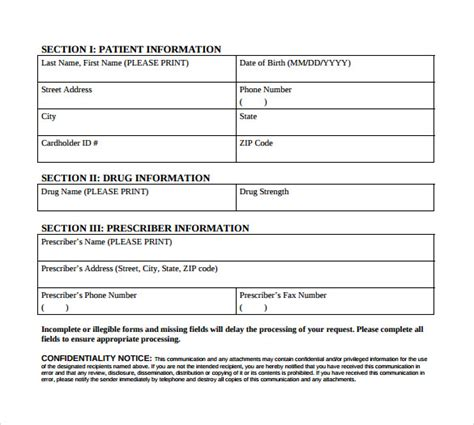 Sle Caremark Prior Authorization Form 8 Free Documents In Pdf Prior Authorization Form Template