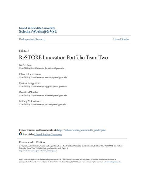 design thinking gvsu restore designthinking innovation portfolio