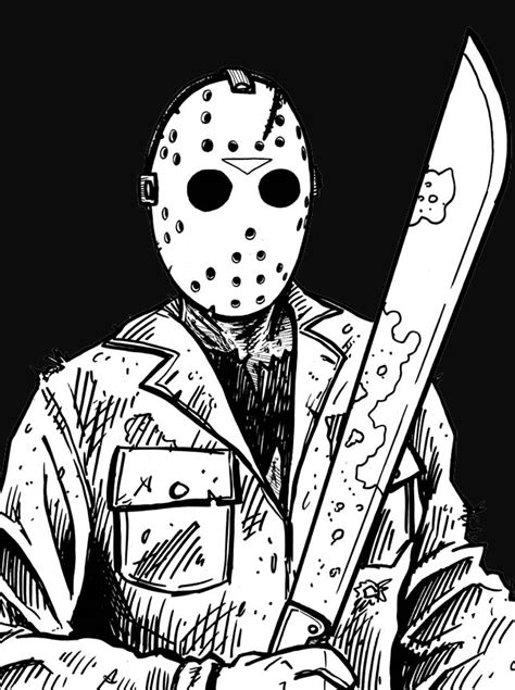 printable jason voorhees mask jason vorhees free coloring pages