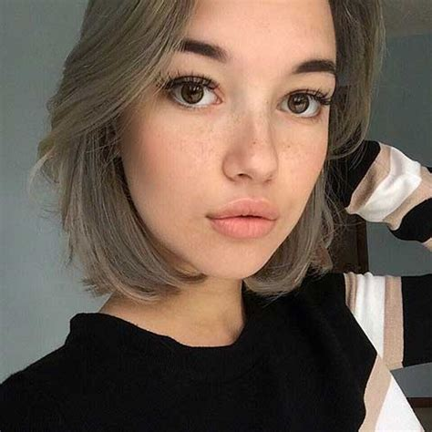 short ashy blonde hair 10 ash blonde bob short hairstyles 2017 2018 most