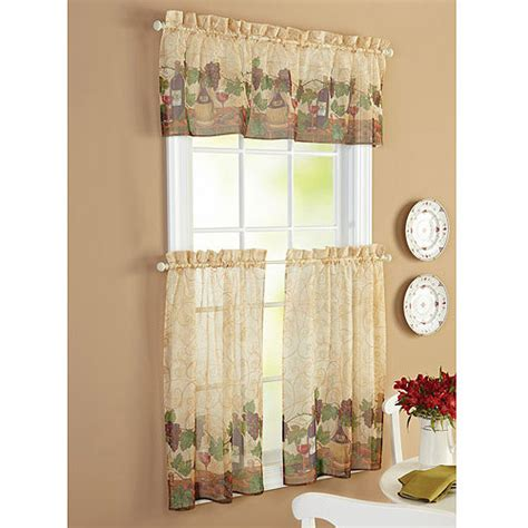 french country wine grapes kitchen curtains valance and
