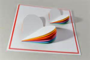 how to make s day card rainbow greeting card step by step kartka na