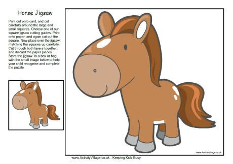 free printable horse jigsaw puzzles horse jigsaw