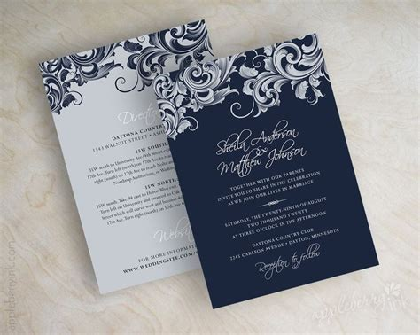 blue and silver wedding invitation ideas best 25 navy silver wedding ideas on