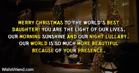 merry christmas   worlds  christmas message  daughter