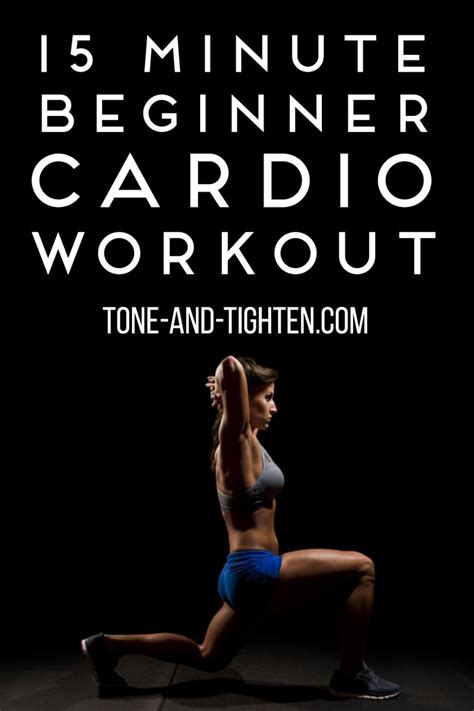15 minute beginner cardio workout on tone and tighten