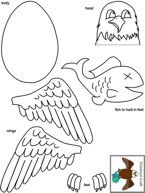 eagle coloring pages preschool bald eagle crafts can use cut outs of hand for wings