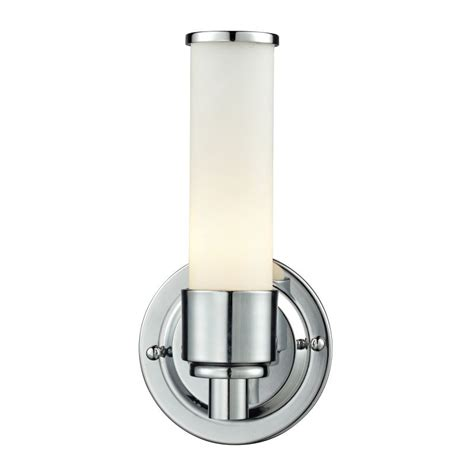 Elk Bathroom Lighting Elk Lighting 84060 1 Chrome Metro 1 Light 9 Quot Bathroom Sconce With Frosted Glass Shade