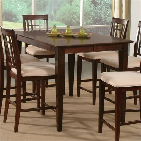 Pub Height Dining Tables Deco Counter Height Pub Dining Table In Antique Walnut Deco Pt Aw