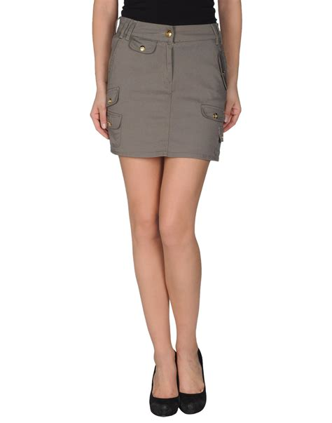 Moschino Mini Skirt moschino mini skirt in gray grey save 68 lyst