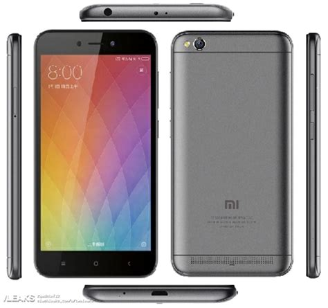 redmi 5a xiaomi redmi 5a with snapdragon 425 spotted on tenaa