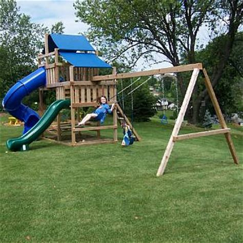 backyard swing set kits wood swing set kits easy to diy to build and safe