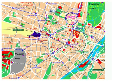 map of tourist attractions munich map tourist attractions travelsfinders