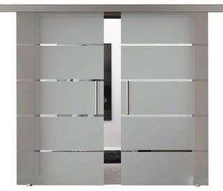 modern european double sliding glass barn doors