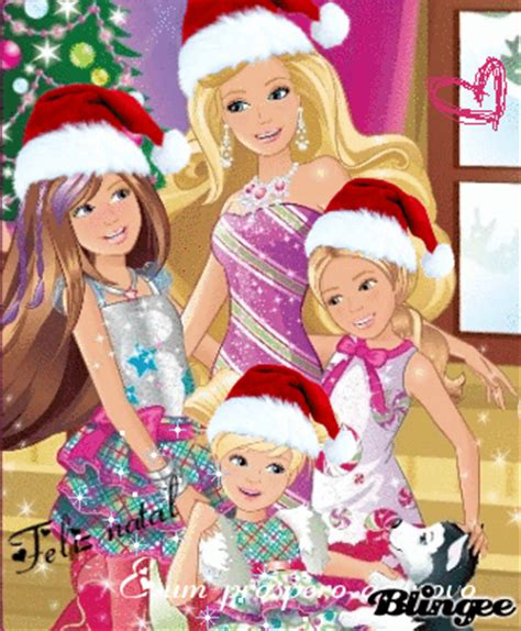 film barbie hari natal imagem de barbie um natal perfeito 127361684 blingee com