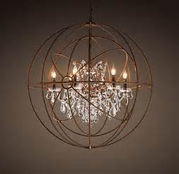 orb chandelier with crystals foucault s orb clear chandelier 41 quot