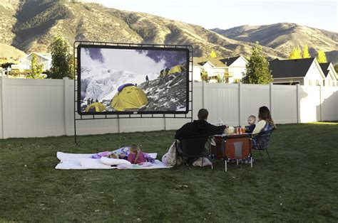 backyard movie projectors amazon com c chef os 144 indoor or outdoor giant movie