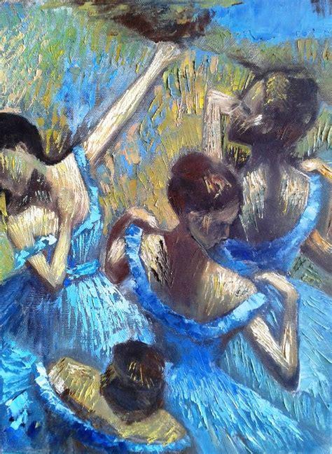 free painting of saatchi blue dancers edgar degas free painting