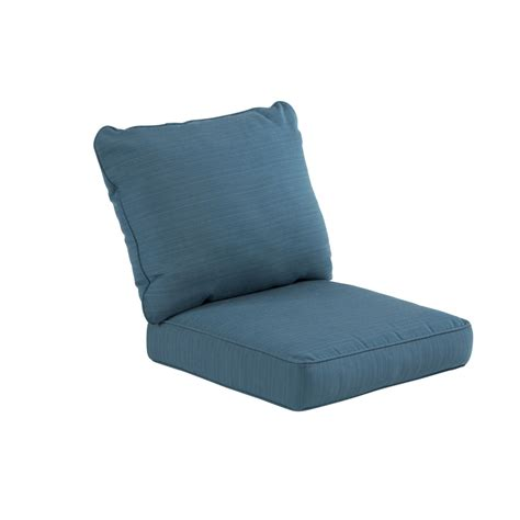 Seat Cushions For Patio Furniture Shop Allen Roth Sunbrella Sea Seat Patio Chair Cushion At Lowes