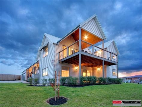 weatherboard modern house exterior with verandah