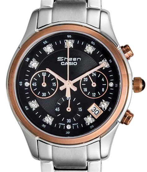 Casio Sheen Oribm Chrono casio sheen chronograph shn 5003p 1adf sh114 s
