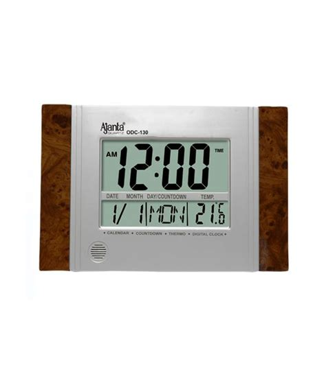 buy digital clock buy ajanta digital wall clock odc 130 at rs 695 shop
