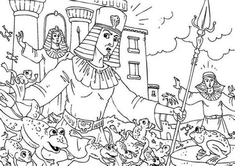 coloring pages ten plagues egypt 10 plagues of egypt frogs invade egypt in 10 plagues of
