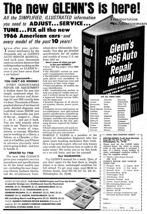 what is the best auto repair manual 2010 lincoln navigator l engine control 1966 glenn s auto repair manual advertisement transportation advertisements