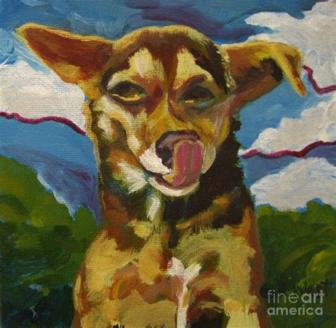 Checked Duvet Cover Ai Chihuahua Painting By Katrina West