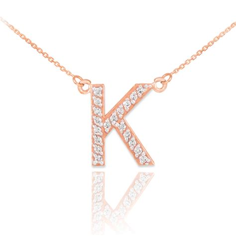 K Necklace 14k gold letter quot k quot initial necklace