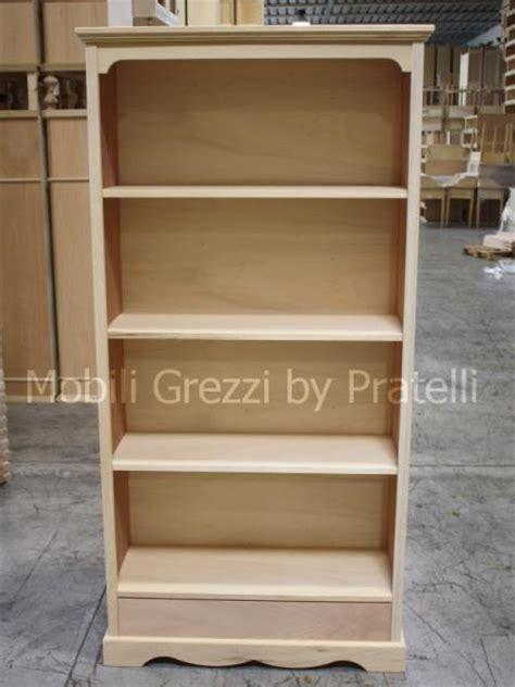 libreria legno grezzo librerie grezze libreria grezza liberty con cassetto