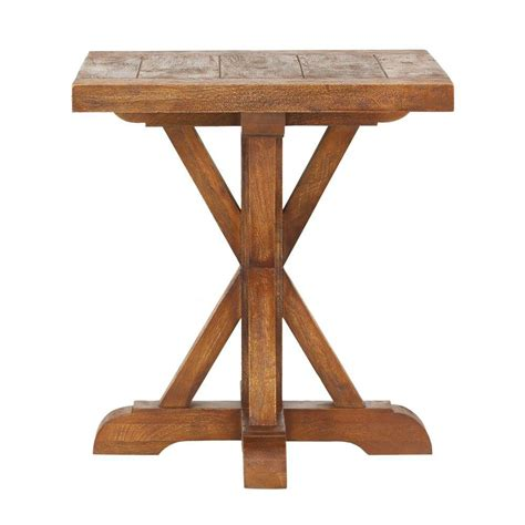 home depot side table home decorators collection cane bark end table 9415300860