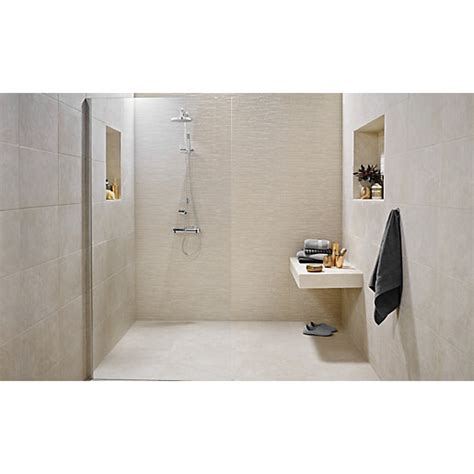 Black And White Tiled Bathroom Ideas wickes mayfield beige ceramic tile 500 x 300mm wickes co uk