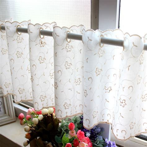 japanese kitchen curtains japanese style polyester cotton head curtain embroidered