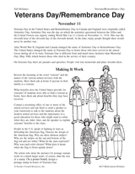 printable worksheets veterans day veterans day remembrance day teachervision