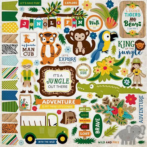 echo park jungle safari elements stickers