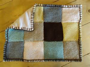 Knitting Patchwork Blanket - knitted patchwork blanket lemony