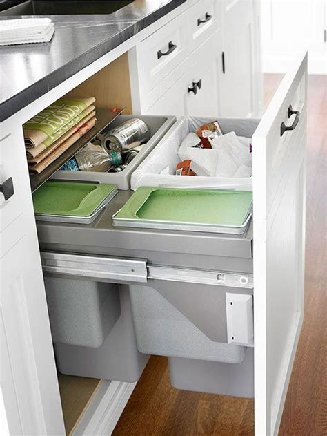 kitchen cabinet recycling center 25 best ideas about kitchen trash cans on pinterest