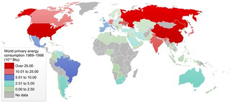 pattern energy usa list of countries by total primary energy consumption and