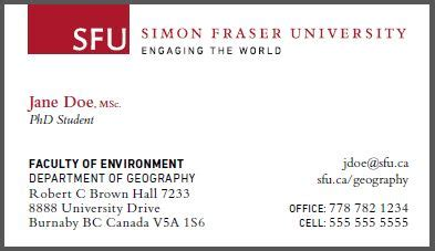 Do I List Professors Mba On Running Title Page by Graduate Student Business Cards Graduate Studies