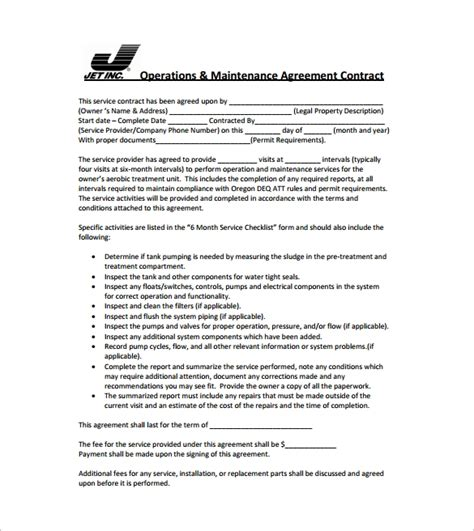 Simple Contract Template 9 Download Free Documents In Word Pdf Simple Service Contract Template