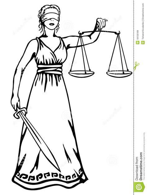 imagenes dela justicia themis a goddess of justice stock vector illustration