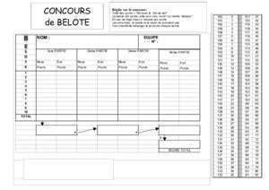belote feuille score document pdf