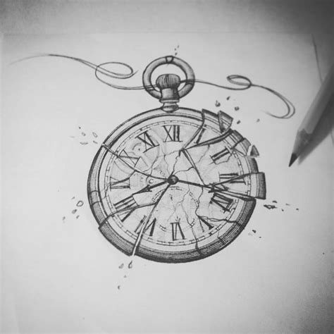 broken clock tattoo meaning broken tattoosketch mine sbi13