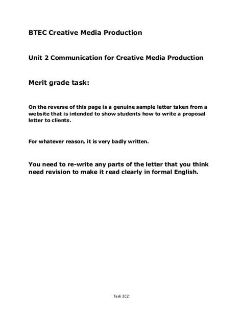 Unit 2 merit letter correction exercise
