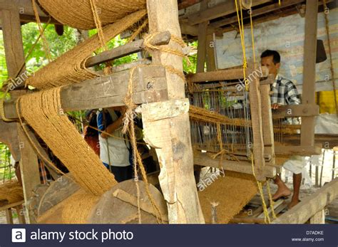 Indian Cottage Industry Product by Wooden Loom Used By Producing Coconut Fiber Coir Door
