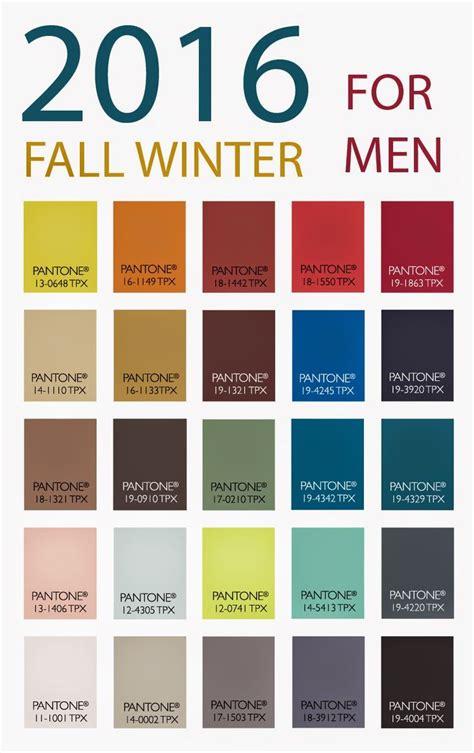 fall 2017 color trends 2016 fall winter trend color for men trend color